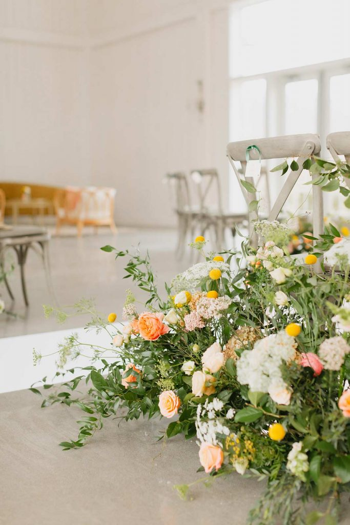 Ceremony Flowers at Willow Brooke Farm by Blossom Studios